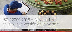 Nueva versión de la norma ISO 22000:2108